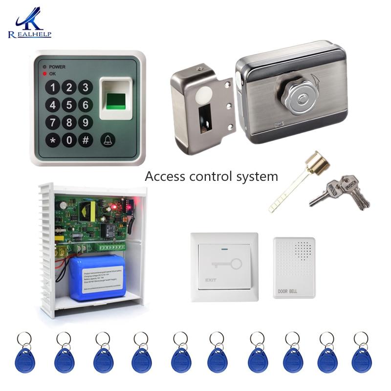 Access control system Kit Home Office Door Lock Electronic Door Release Keypad Biometric Entry Door fingerprint machine S1
