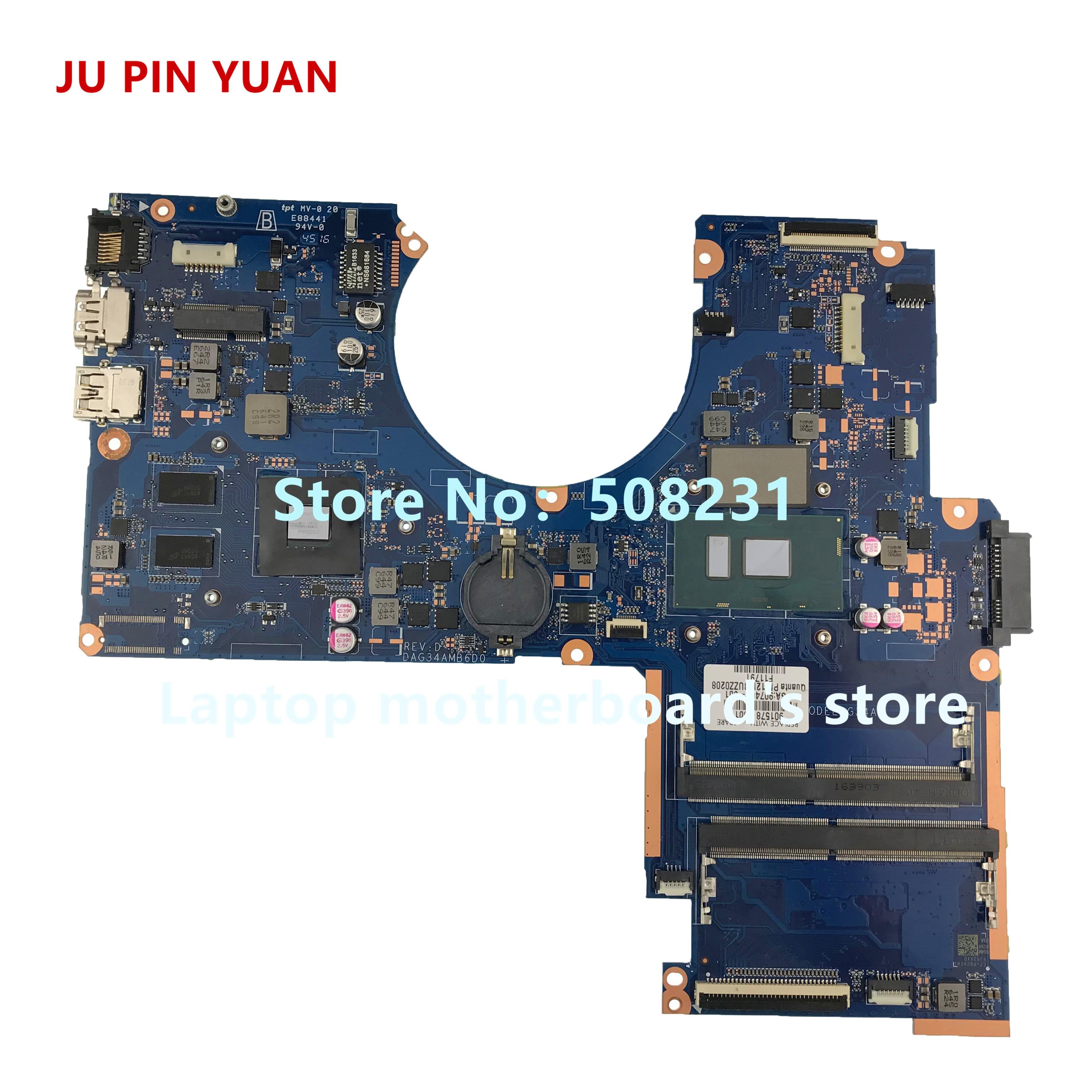 جو دبوس يوان 901578-601 G34A DAG34AMB6D0 ل HP جناح دفتر 15-AU 15T-AU اللوحة المحمول 940MX 2GB i5-7200U اختبار بالكامل