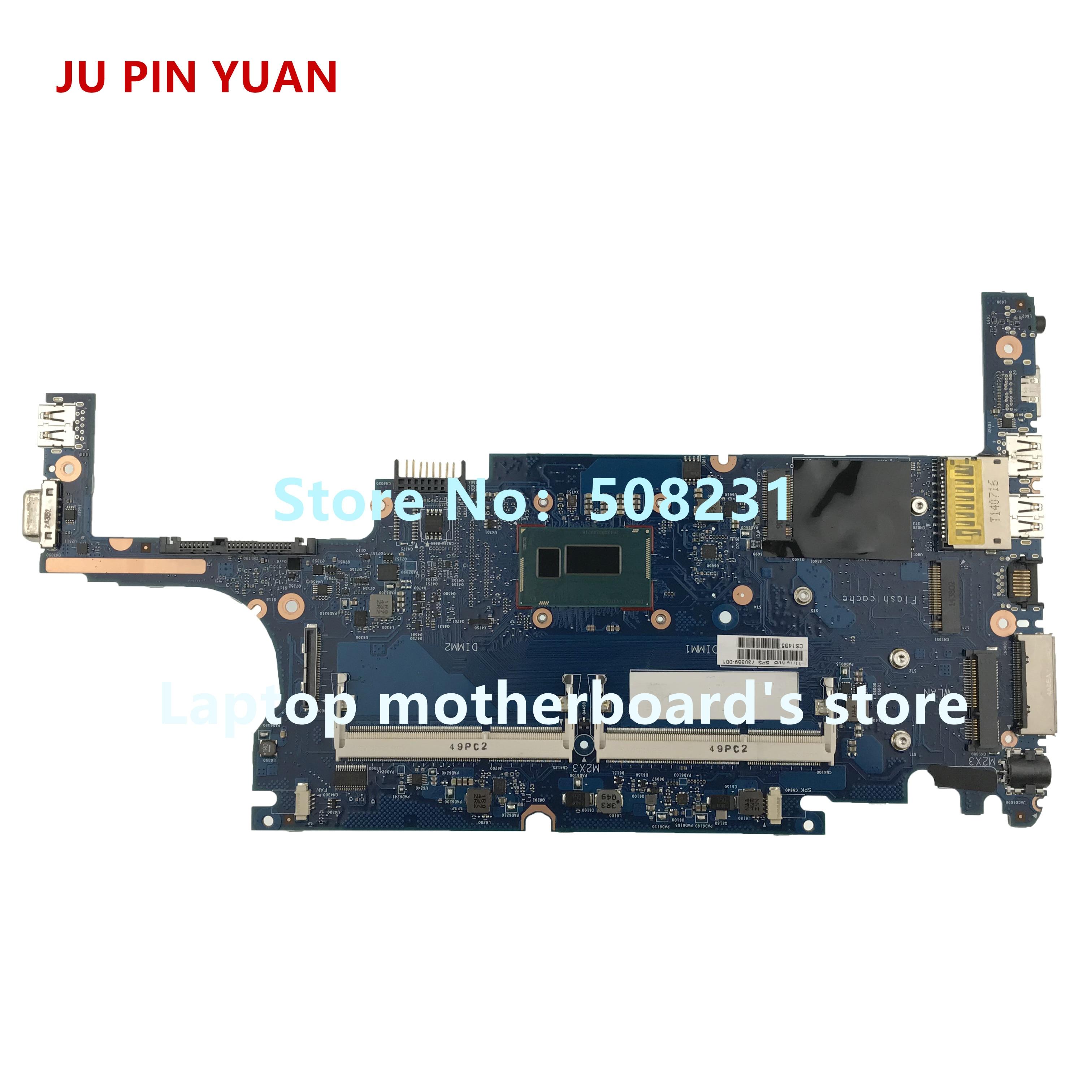 JU PIN YUAN para HP 820 G1 placa base de computadora portátil 730559-001 730559-501, 730559-601, con i7-4600U 100% probado completamente