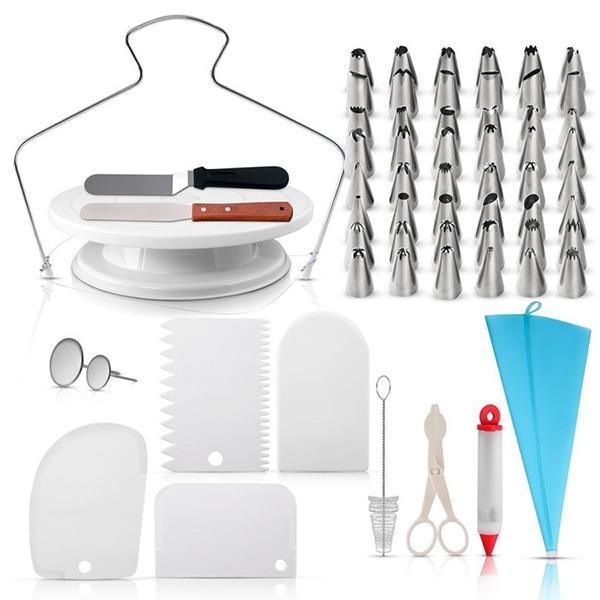 73 piezas torniquete para hornear herramienta de decoración de boca DIY juego de boquillas para pastelería Juego de puntas para glaseado #3