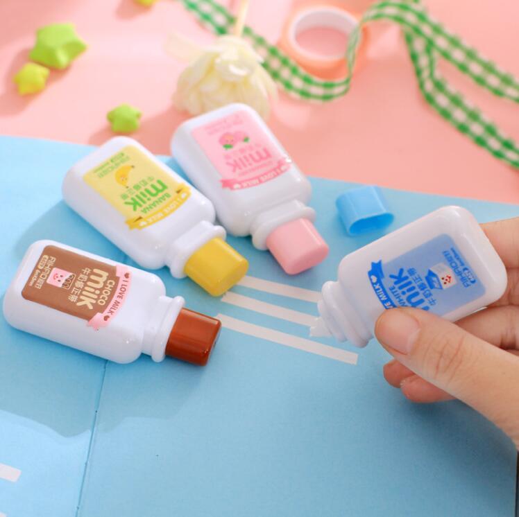 Ellen Brook 1 Piece Cute Kawaii Cartoom Milk Bottle Correction Tape Stationery Office School Supplies