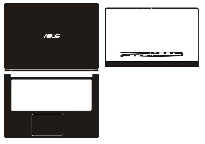 "Portátil De fibra de Carbono Vinil Adesivo Cobrir com a Pele Para ASUS VivoBook S430UN S430UF S430UA S430FN S430FA 14"""