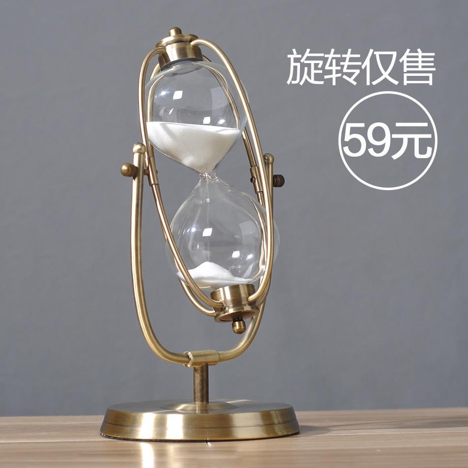 Reloj de arena moderno 30/60 minutos muebles creativos de Metal decoración de sala de estar de cumpleaños reloj de arena minimalismo reloj de arena temporizadores