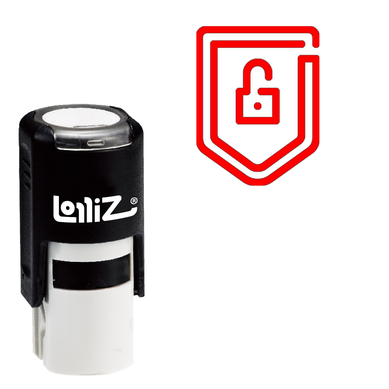 LolliZ Shield Self-Inking Rubber Stamp - Modern Symbol Series