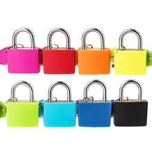 1 Uds 32*23MM 8 colores Mini candado de viaje maleta equipaje candados de bloqueo con 2 llaves mejor precio