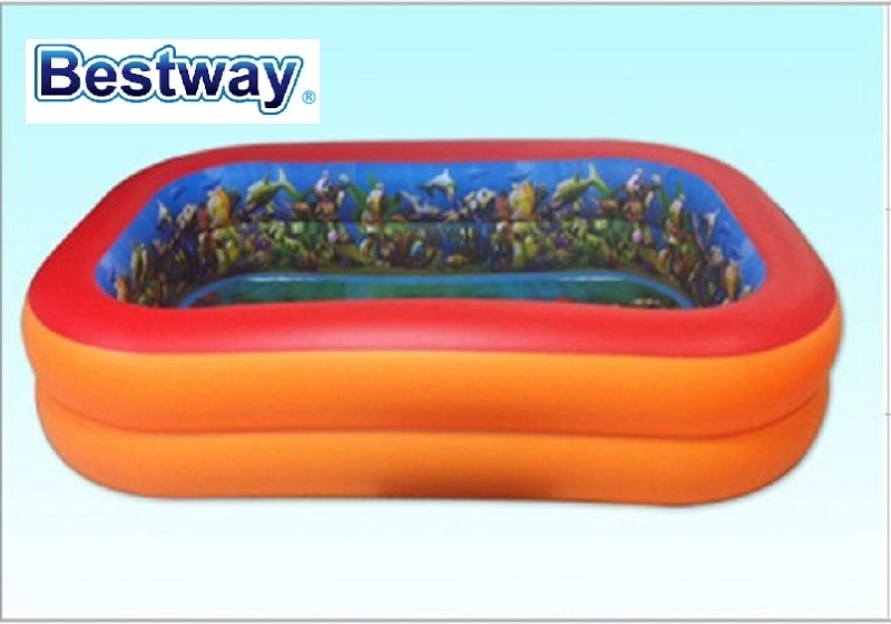 "54114 Bestway 2,62 m x 1,75 m x 51cm Splash y jugar interactivo serie 3D aventura 8,6 x 69x20 ""Dos-anillo piscina inflable Rectangular"
