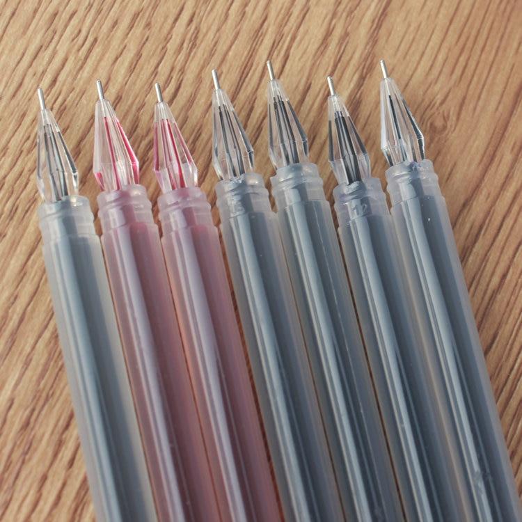 1 Uds pluma de Gel de cabeza de diamante de gran capacidad 0 38mm aguja financiera estudiantes papelería bolígrafo de carbono