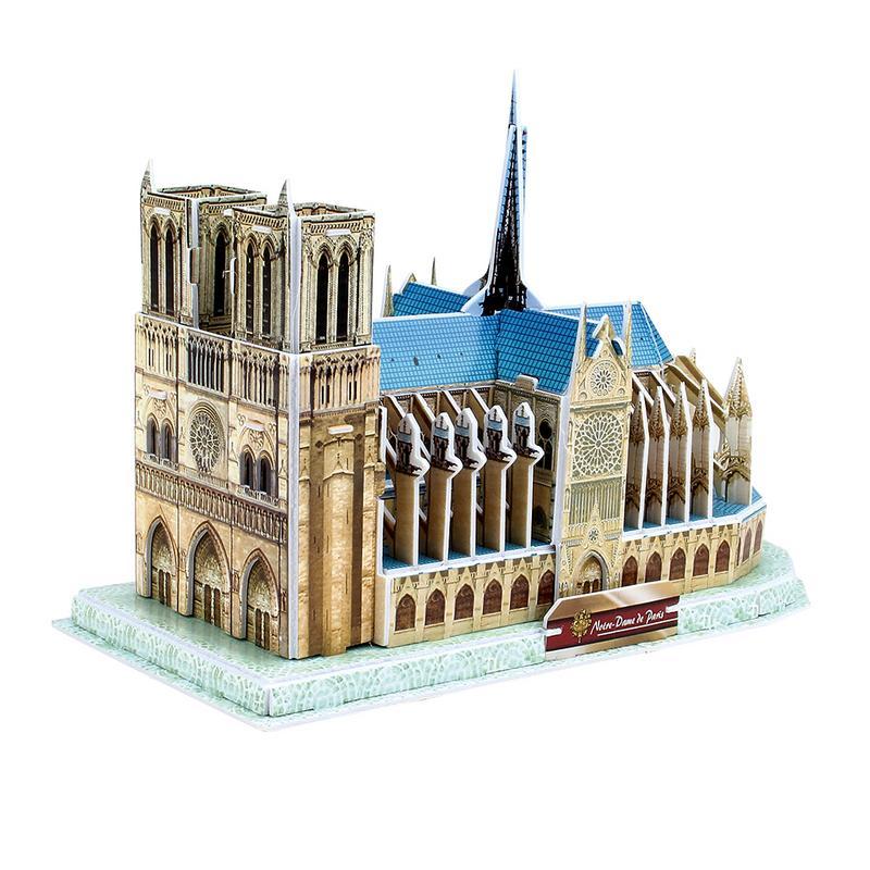 Notre Dame 3D rompecabezas edificio conocido DIY 3D rompecabezas juego mental descompresión de juguete para niños adultos