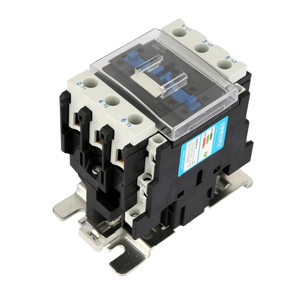 Contactor eléctrico Industrial de alta sensibilidad 50A 380 V 22KW CJX2-5011