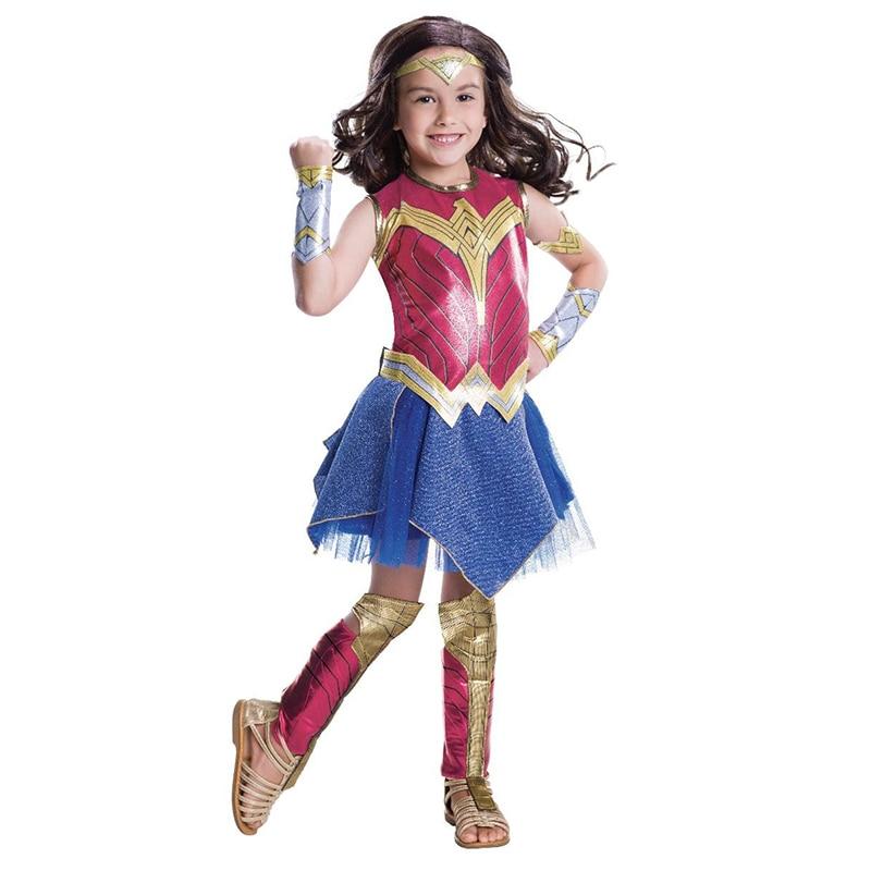 aliexpress.com - Wonder Girl Costume Children Dress up Superhero Cosplay Halloween Costume For Kids