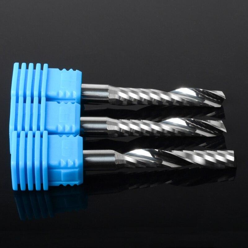 8 мм Класс A1 одинарная флейта спиральная карбидная Концевая фреза из США Kennametal Карбид твердосплавный для резки акрил ПВХ МДФ дерево