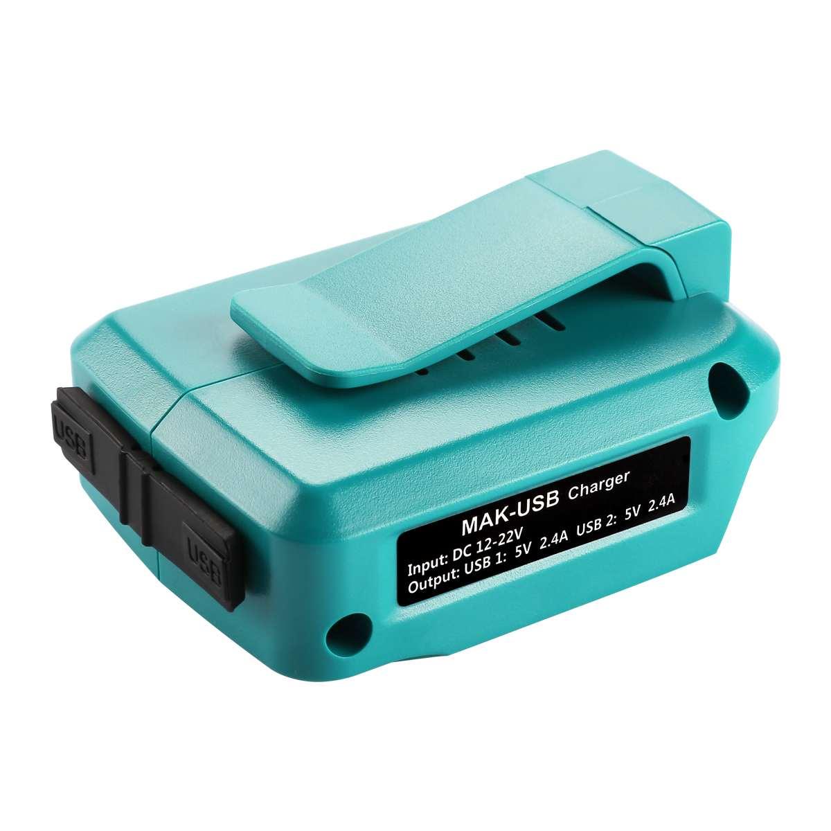 LEORY USB cargador de energía de batería Adaptador convertidor para Makita ADP05 18V 14,4 V Li-ion batería BL1415 BL1430 BL1815