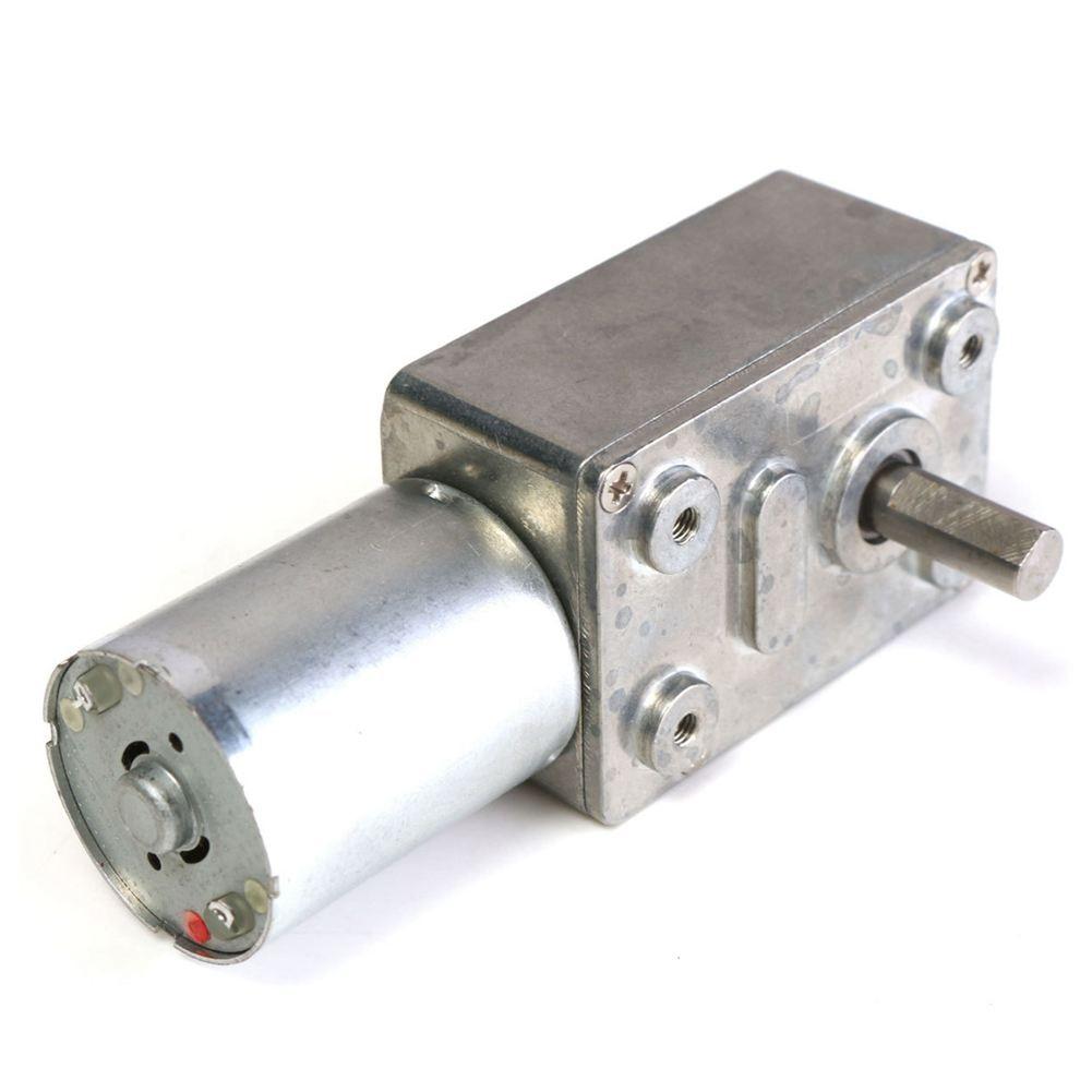 FUNN-GW370 12V 6rpm Reversible High Worm Geared Motor Torque Turbo DC Motor 35A