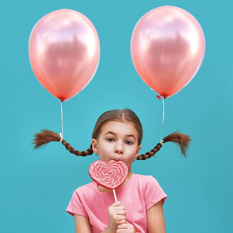 Globos de confeti dorados y rosas 12 pulgadas Paquete de 40 incluye 20 confeti de oro rosa y 20 bodas de oro rosa, aniversarios, novia