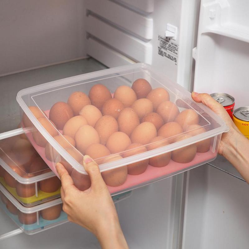 2/10/30 пластиковая коробка для яиц, кухонный ящик для хранения яиц, держатель, Штабелируемый холодильник, органайзер для хранения яиц, контейн...