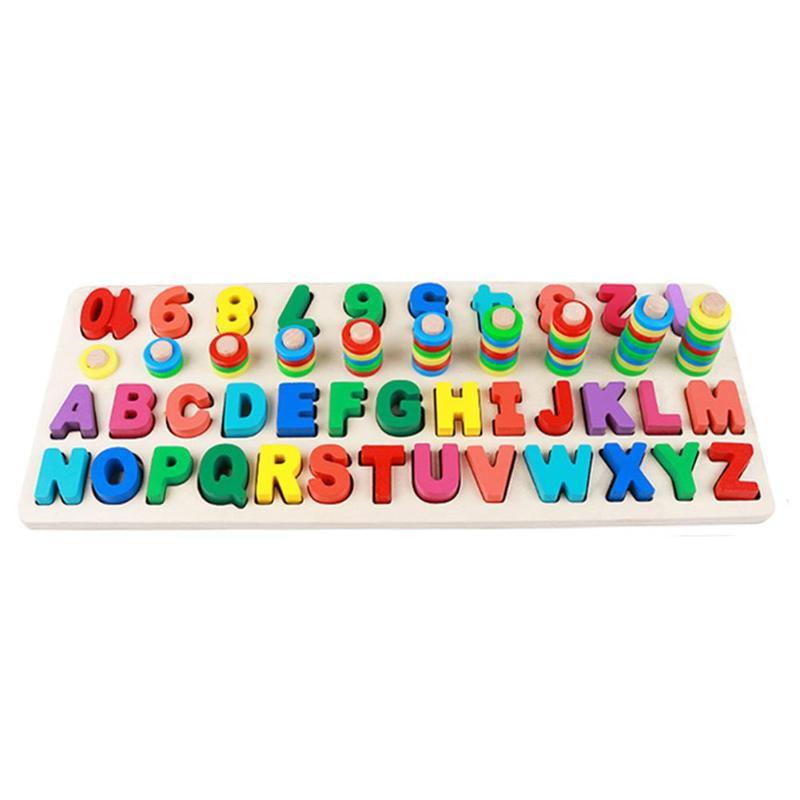 Juguetes de aprendizaje de matemáticas preescolares para niños, herramientas de conteo de cognición temprana, tablero de madera para matemáticas, números, Juguetes