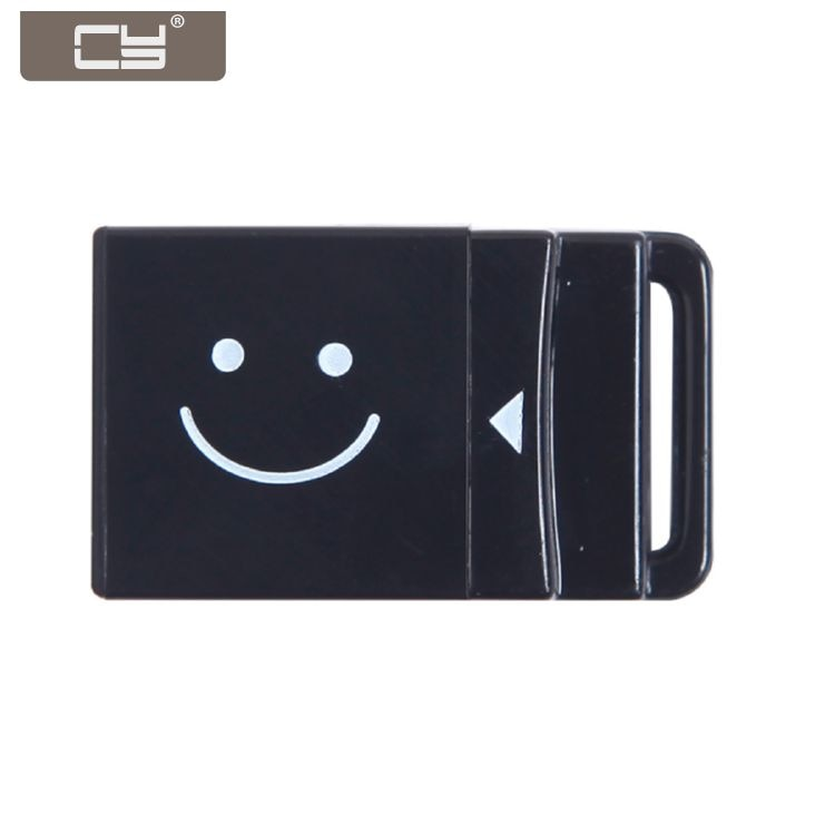 10 unids/lote USB 2,0 a Micro SD T-Flash SDHC lector de tarjetas de memoria adaptador para teléfono móvil Tablet negro