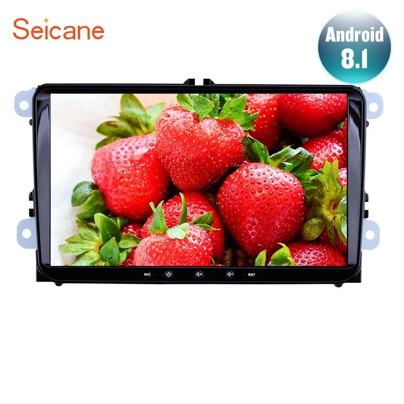 "Seicane 9"" Android 8.1 2DIN 1+16GB Car GPS radio Navi Unit Player for Seat Toledo Leon VW Golf Polo Passat Tiguan Sharan Caddy"