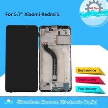 ЖК дисплей M & Sen для Xiaomi Redmi 5 с рамкой и сенсорной панелью, дисплей 5,7 дюйма с дигитайзером в сборе для Redmi 5, оригинал