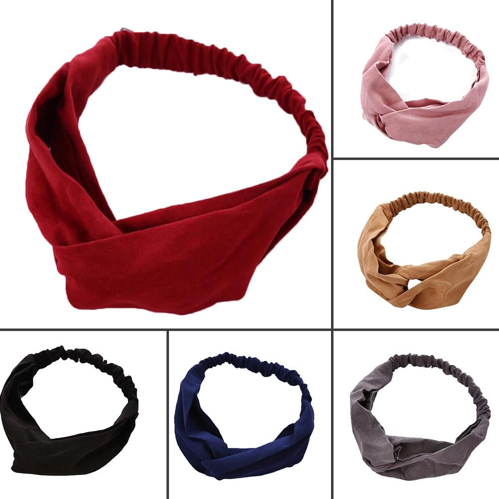 2020 Lady Headdress Plaid Bow Headband Turban Elastic Headwear Head Wrap Women Hair Accessories for Women Striped Hair Bands