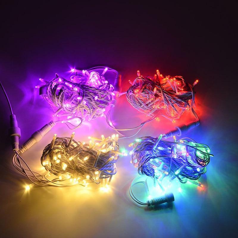 Toprex 32.8 'طول 100 LED سلسلة أضواء مقاوم للماء زينة عيد الميلاد سلسلة خفيفة ديكور الزفاف كشاف إضاءة للحفلات LED سلسلة 220 فولت