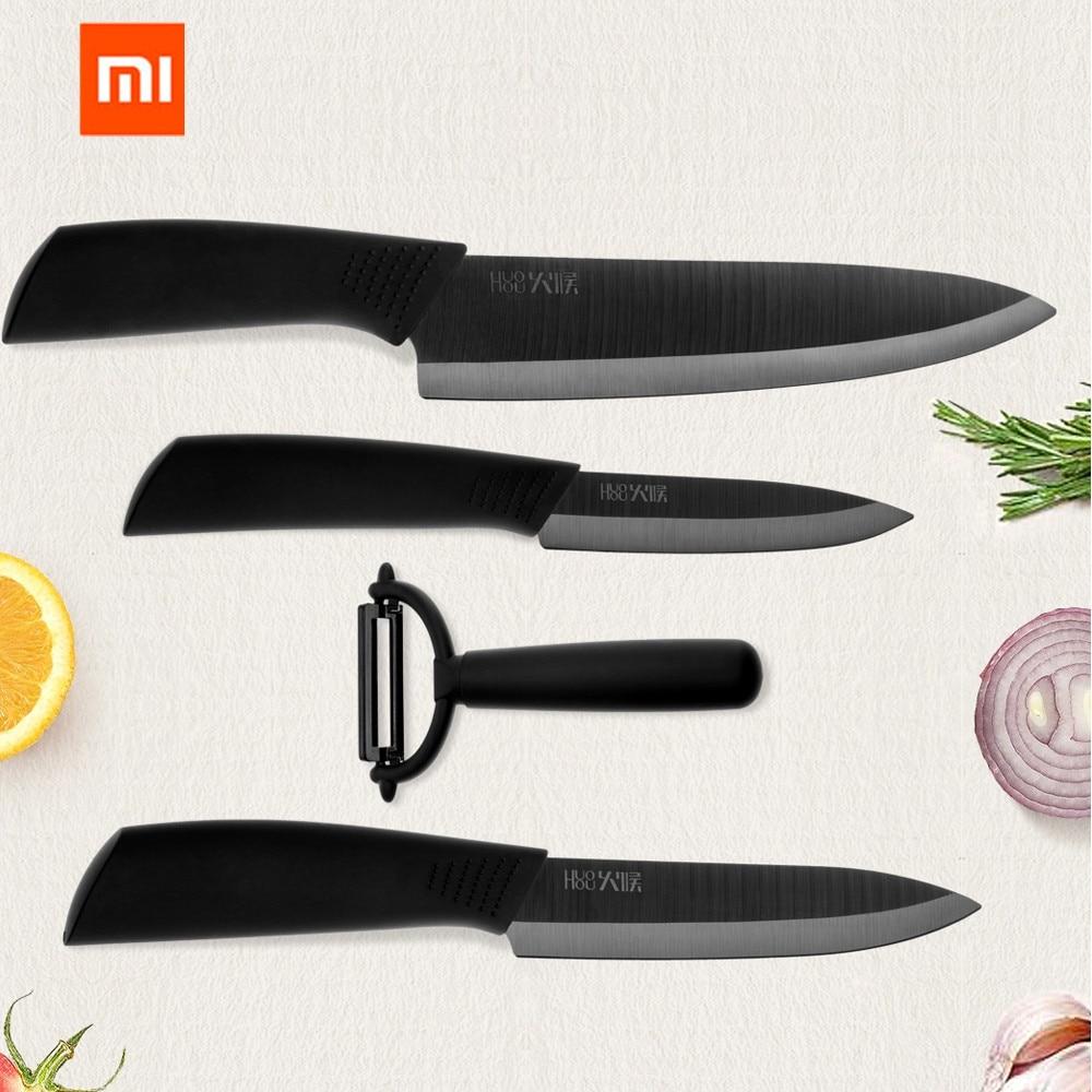 Huohou Nano-ceramic Набор ножей 4 6 8 дюймов нож шеф-повара острый легкий дружественный китайский кухонный нож от xiaomi Youpin