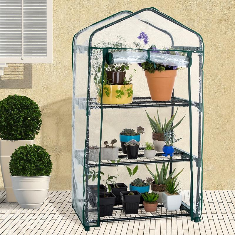 Mini outils de jardin domestique   PVC, chaud, niveau solaire, Mini outils de jardin, housse de serre, sans support en fer
