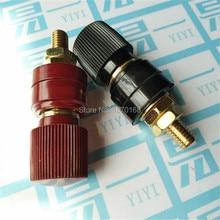 Plastic Shell M10 Black / red Male Threaded Diameter Binding Post Terminal 10MM