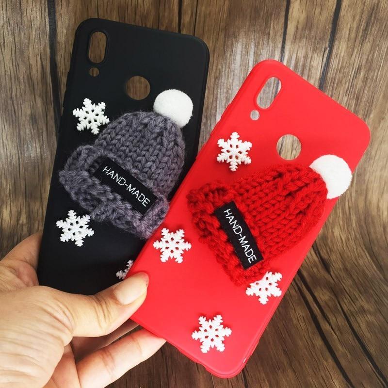 Funda esponjosa navideña para Huawei P20 Lite/P 20 Pro, fundas de teléfono de silicona bonitas para Huawei Nova 3E 3 E P20lite