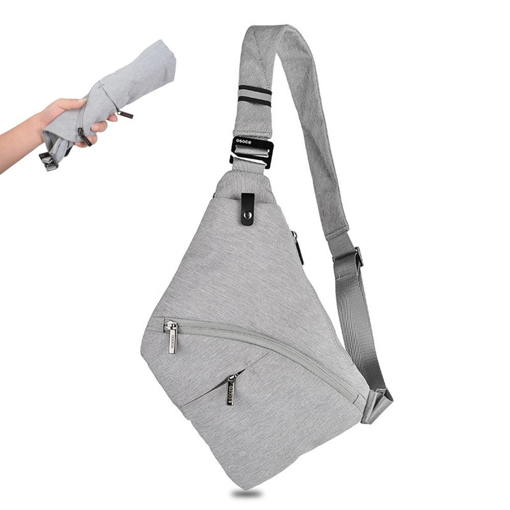 Bolsa cruzada delantera para hombre, bolsa de seguridad antirrobo para el pecho, bolsa de almacenamiento táctico para pistola, bolsa de hombro para hombres