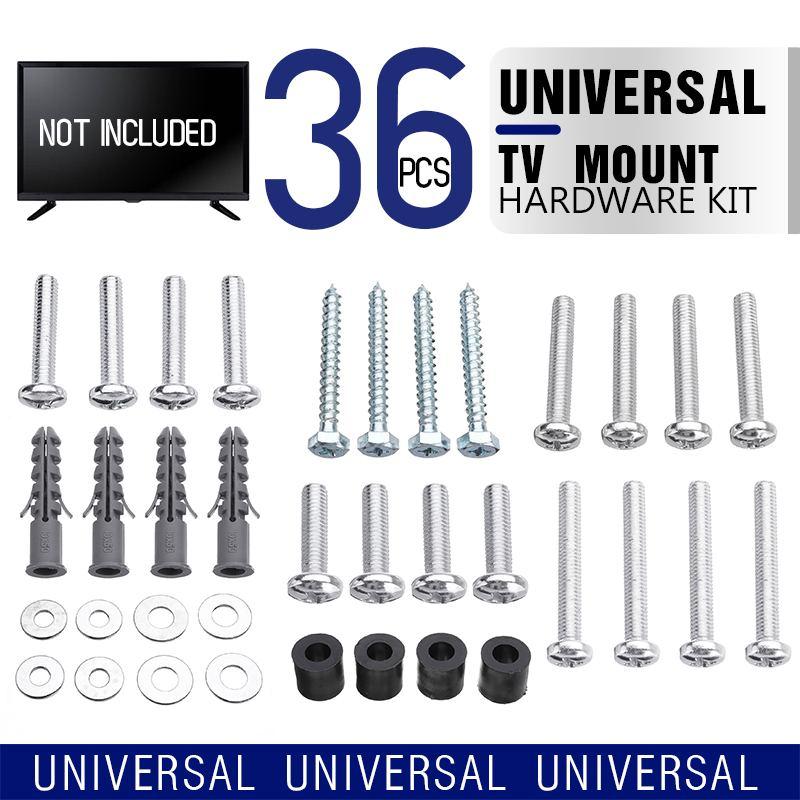 Hot TV Montieren Hardware Kit, Universal VESA Wand Halterung Schraube, Waschmaschine, spacer Pack (M4 M5 M6 M8 M10) für TV und Monitor Montage