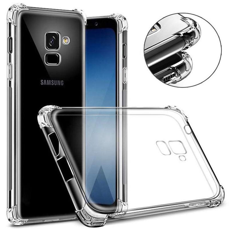 Funda de silicona a prueba de golpes para Samsung Galaxy J4 J6 Prime A6 A8 Plus 2018 S8 S9 Plus S7 Edge, Note 8 9 J330 J530 J730