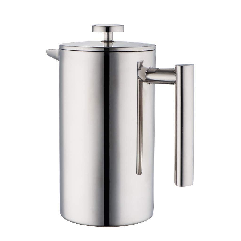 Cafetière à pression française en acier inoxydable   Cafetière et thé isolés à Double paroi, cafetière et cafetière, conserve le café ou le T