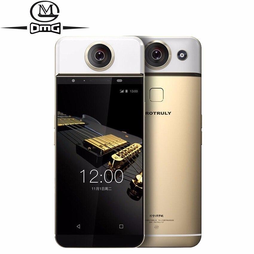 PROTRULY D7 AMOLED 360 درجة كامل البعد VR 4G الهاتف الذكي الروبوت 6.0 هيليو X20 عشاري النواة 3GB + 32GB FHD 26MP الهاتف المحمول
