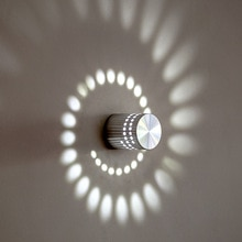 AC85-265V mur LED lampe en aluminium style moderne 3W éclairage intérieur pour KTV barre décorer lumières Luminaire applique arrière-plan lampes