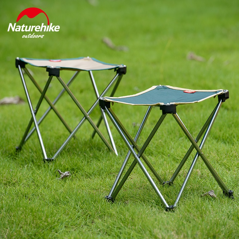 Silla plegable de aluminio plegable Naturehike para pesca, silla para pesca, Picnic, barbacoa, jardín, herramienta para Camping, taburete NH15D012-B