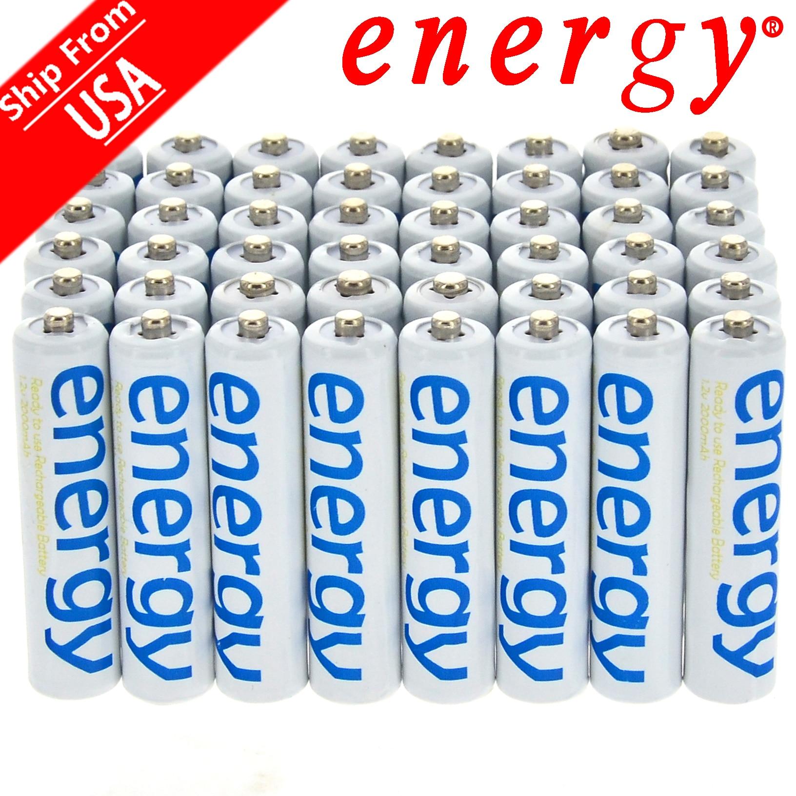 Nueva Marca AA 3300mAh AAA 2000mAh 1,2 V Ni-Mh batería recargable de energía blanca para RC MP3 envío gratis