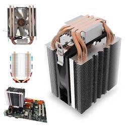 1 conjunto heatpipe radiador azul led rolamento hidráulico silencioso 3pin cpu cooler fan para intel lga1150 1151 1155 775 1156 amd ventilador de refrigeração
