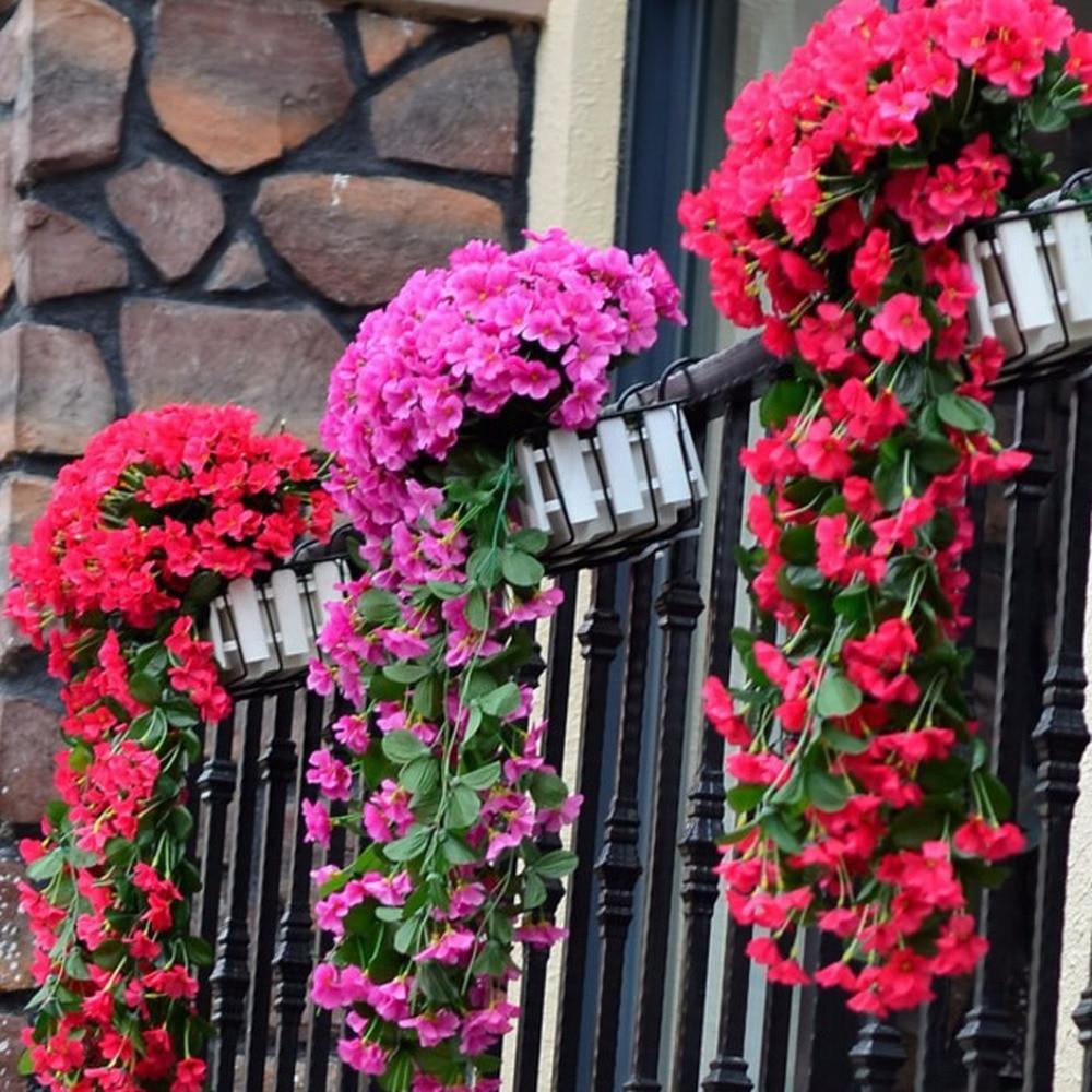 Цветной искусственный шелк фиолетовый цветок плюща для гирлянды настенный завод для свадебной вечеринки украшение для дома сада балкона