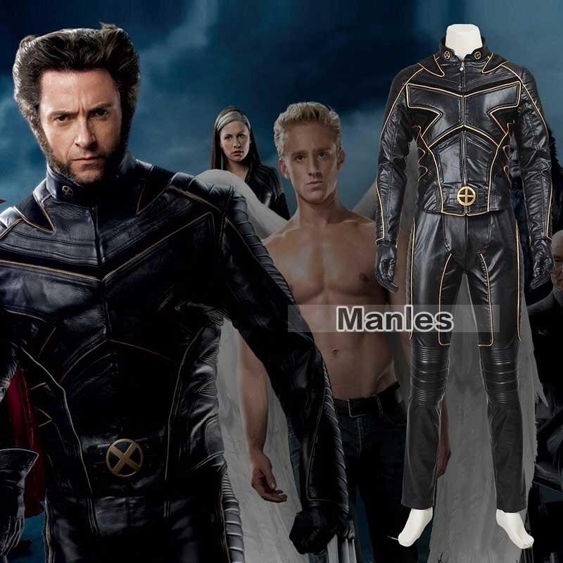 X-traje de Cosplay de hombres James Logan chaqueta Howlett Halloween Carnaval de Navidad abrigo de superhéroe adulto hombres cuero