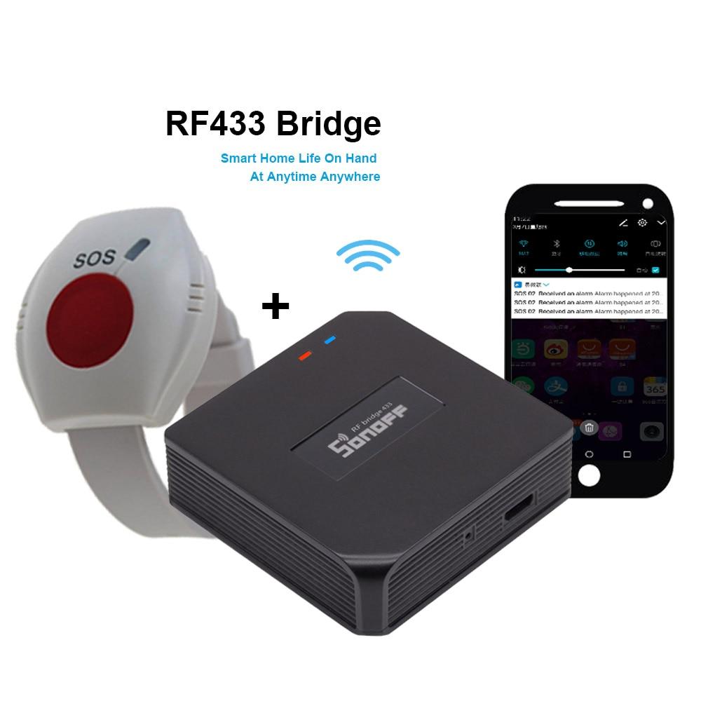 Botón SOS WIFI para ancianos RF 433mhz botón de pánico para emergencias alarma inalámbrica reloj pulsera gente mayor Android IOS APP