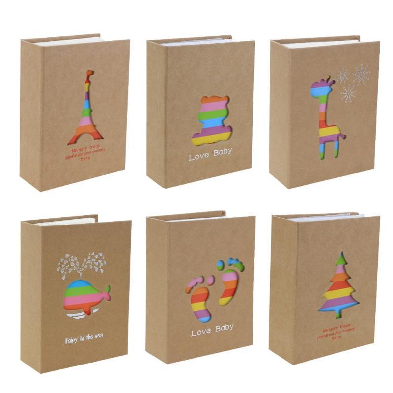 Foto álbum 100/200 hojas Insertar página 5/6 pulgadas instantánea foto de almacenamiento de los niños amantes de la memoria libro para bricolaje regalos