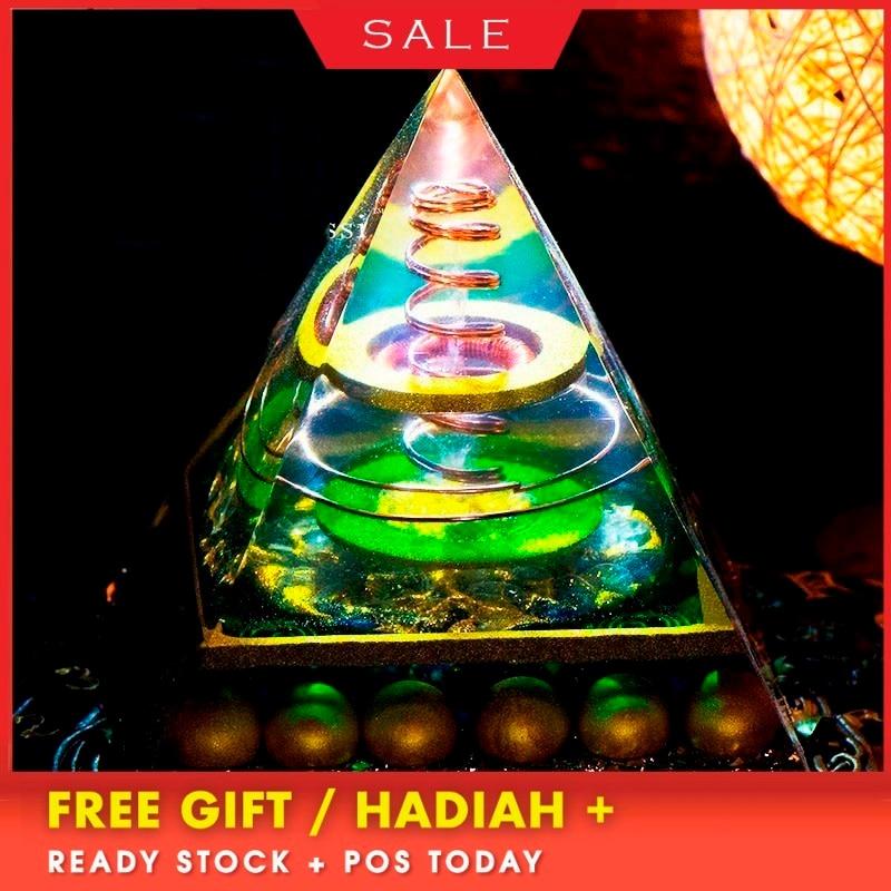 Orgonite Large Pyramid Spiritual Joy Rich Series Auger Energy Amplifier Augon Pyramid Exorcism Resin Decorative Craft Jewelry