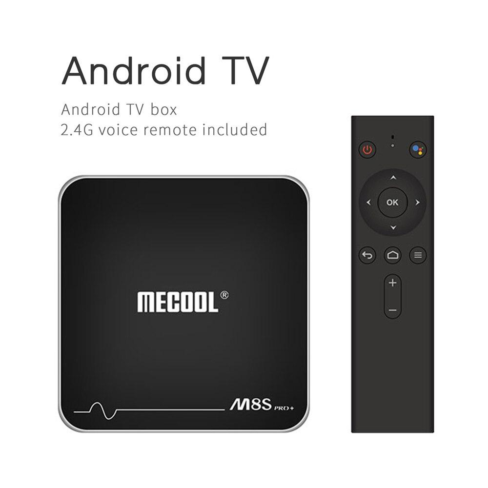 MECOOL-TV Box M8S PRO Plus, Android 7,1, con Control remoto por voz por IR, Amlogic S905W, Quad Core, 2GB/16GB, BT4.2, reproductor multimedia HD