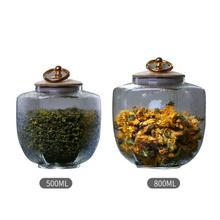Tea Jar Kitchen Tea Storage Bottles Glass Candy Jars With Cork Lid Spices Sugar Coffee Container Receive Organizer Cans Gadgets