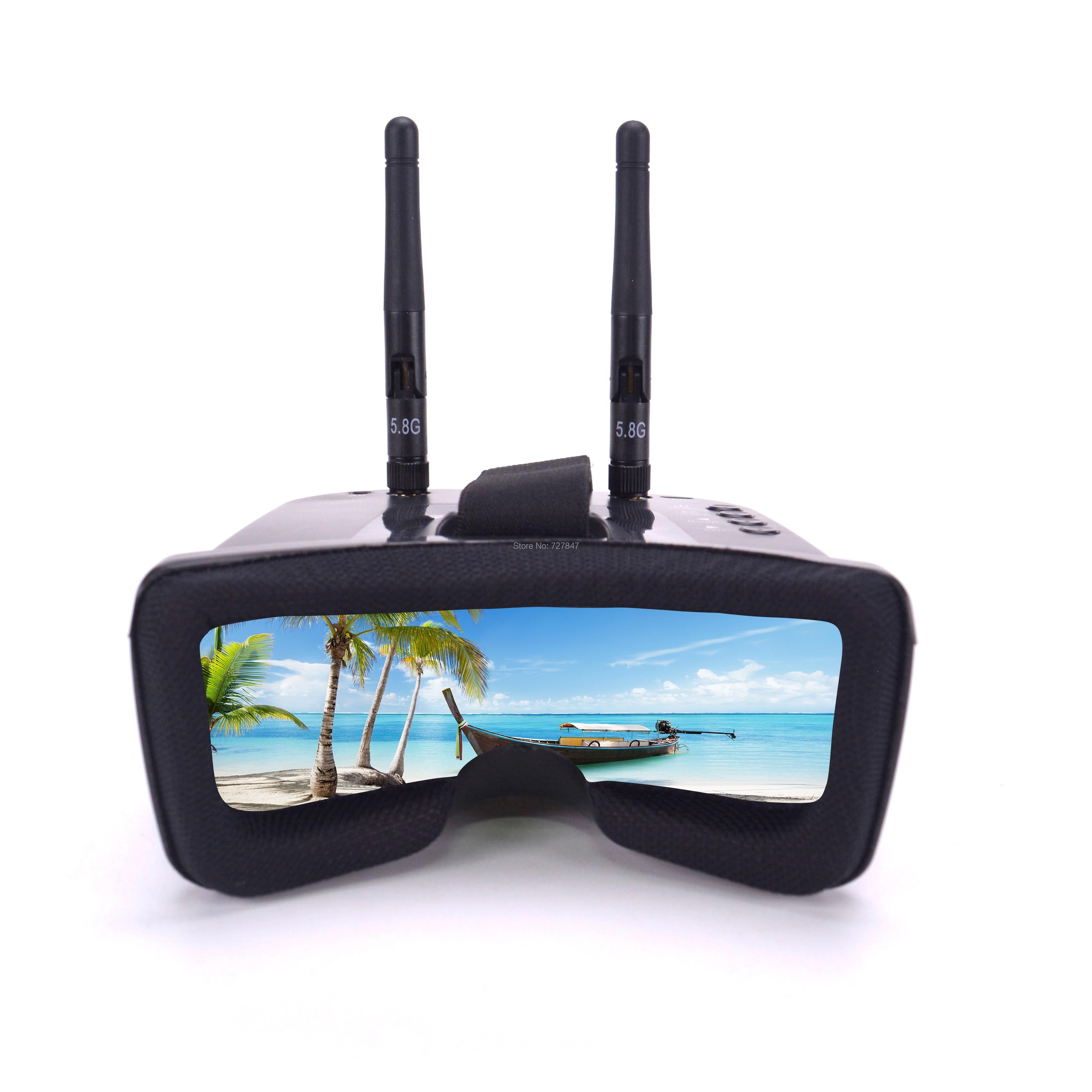 Мини FPV очки 3 дюйма 480*320 дисплей 5,8G 40CH автоматический поиск с Встроенный 3,7 В 1200 мАч аккумулятор для квадрокоптера дрона