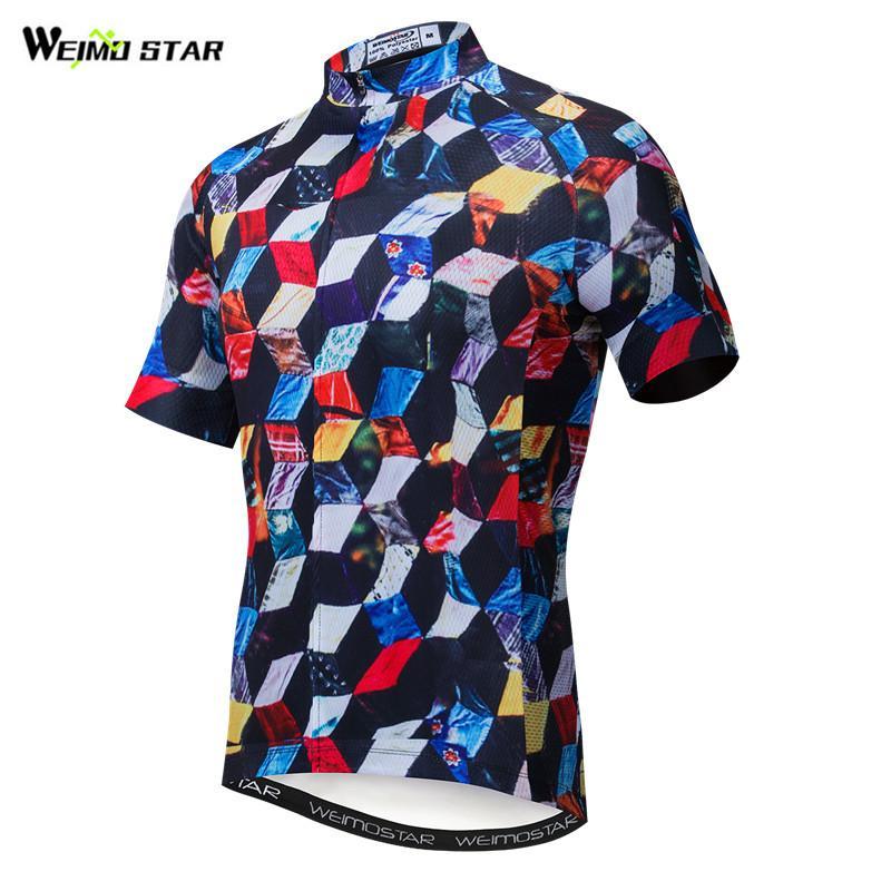 Weimostar-ropa de Ciclismo transpirable para hombre, Maillot de secado rápido para equipo...