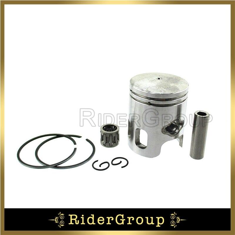 40mm Piston Rings 10mm Pin Kit For 2 Stroke Polaris Aeon Predator 50cc Scrambler Sportsman 50 ATV Quad