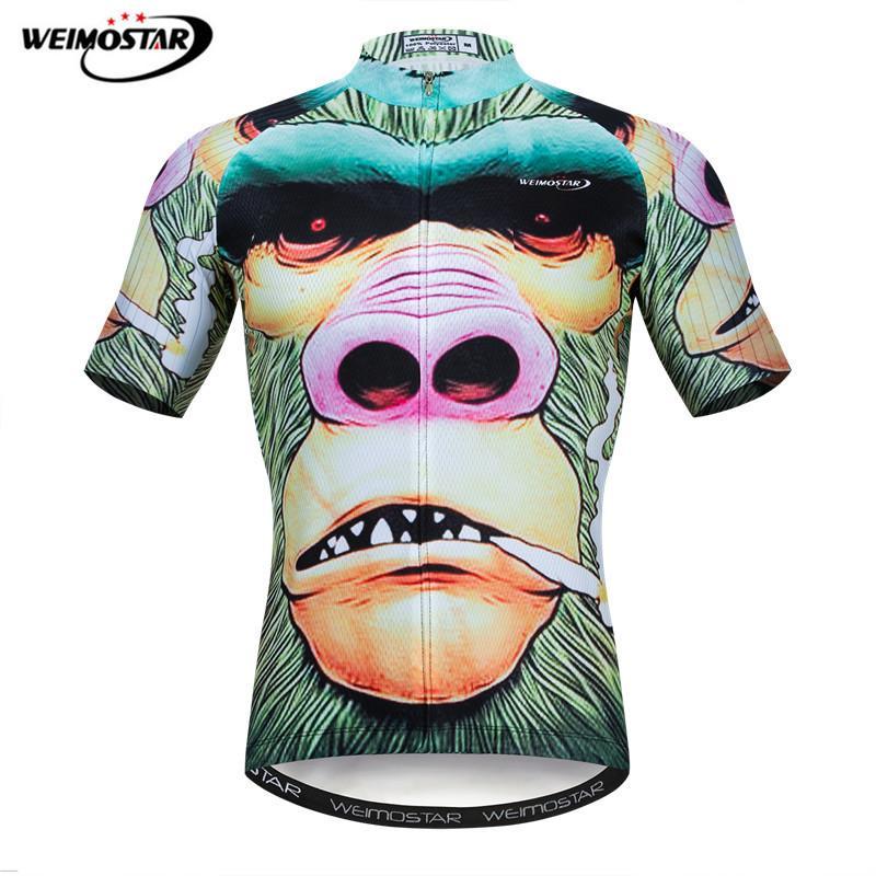 Weimostar orangután Ciclismo camiseta verano 3D transpirable MTB bicicleta Jersey hombres Pro equipo ropa de bicicleta Maillot Ciclismo