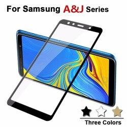 Vidro Temperado De proteção Para Samsung Galaxy J8 J7 J6 J4 J3 J2 Pro A8 A6 Plus 2018 A3 A5 A7 j3 J5 2016 2017 Glas Filme Da Tampa Do Caso